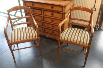 Paire de fauteuils d'époque Louis-Philippe,...