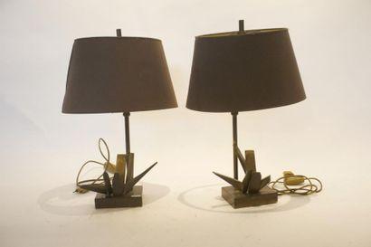 Paire de lampes de table Vintage, circa 1970-80,...