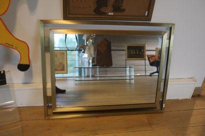 Miroir rectangulaire Vintage, circa 1970-80,...