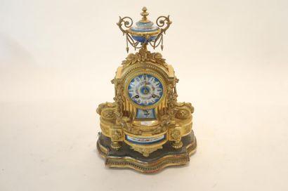 Pendule-borne d'époque Napoléon III, fin...