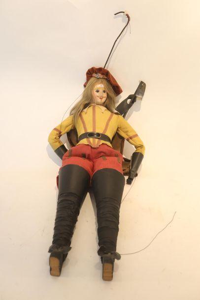Marionnette de Toone, h. 122 cm env.