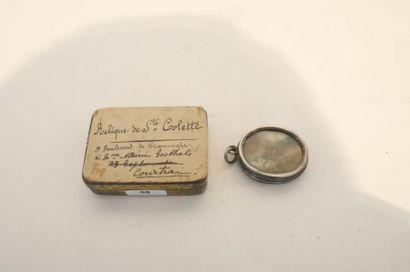 Pendentif-reliquaire de sainte Colette, XIXe,...