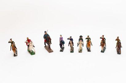 Lot de figures historiques (Charlemagne,...