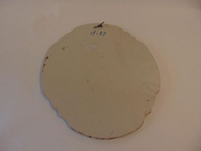 """MAKKUM - TEN ZWEEGE Jacobus Willem """"Vue de Waverveen"""", fin XIXe, plaque ovale chantournée..."""