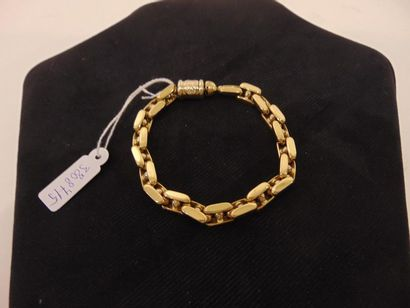 Bracelet à gros maillons en or jaune 18 carats,...