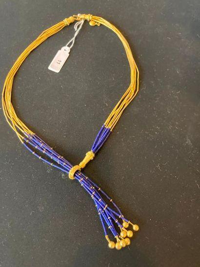 Négligé en or jaune 18 carats et lapis-lazuli,...