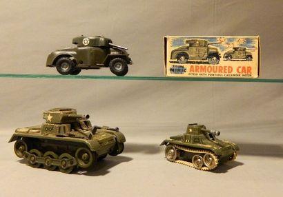 Chars (3) : GAMA, char T60 mécanique en tôle,...