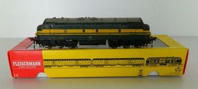 FLEISCHMANN 4270, locomotive diesel CC verte,...