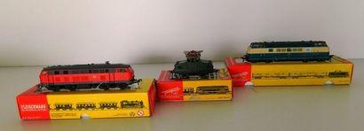 FLEISCHMANN, 3 locomotives : 4236, BB de...