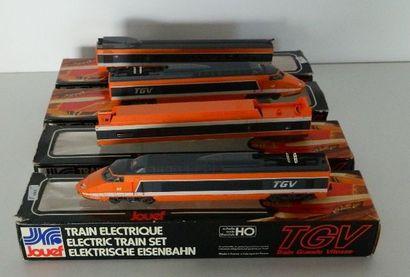 JOUEF, TGV orange à 4 éléments [boîte d'origine...