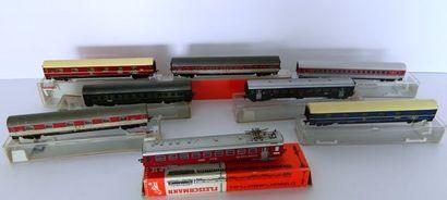 FLEISCHMANN, 8 voitures grandes lignes :...