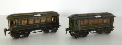 MÄRKLIN, 2 voitures-voyageurs ; 18860, voiture...