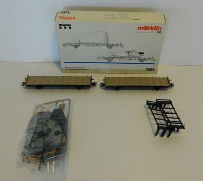 MÄRKLIN 4506, 2 wagons transport d'avion...