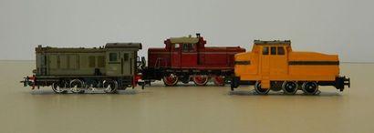 MÄRKLIN, 3 locotracteurs : 3064, V60 1009...