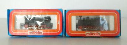 MÄRKLIN, 2 locos-tender 030 noires : 3090...
