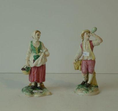 Paire de statuettes