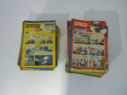 Important lot de journaux Spirou : numéros...