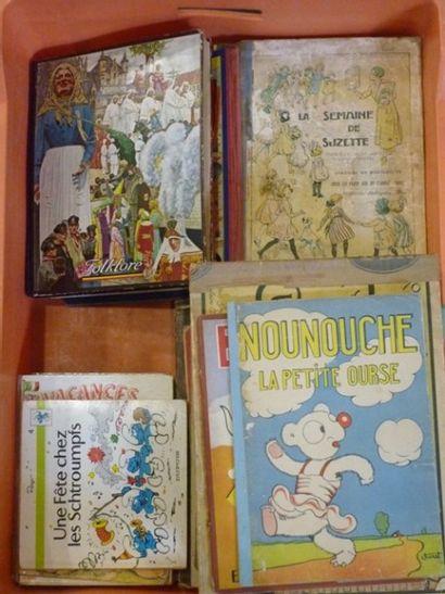 Ensemble de 45 livres anciens d'enfants [état...