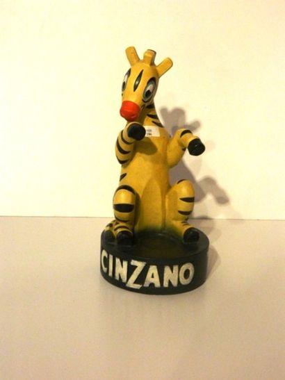 Mascotte publicitaire Cinzano, XXe, plâtre...