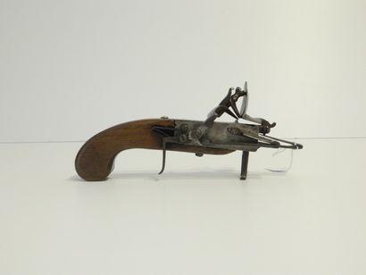 Allume-mèche à silex, XVIIIe, l. 20,5 cm...