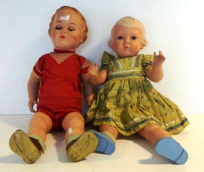 Grandes poupées en celluloïd (2) : TORTUE,...
