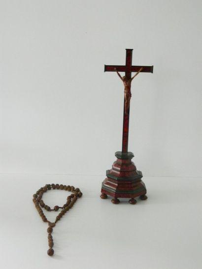 Crucifix de style Baroque, XIXe, sujet en...