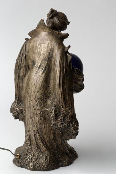 """LAPORTE-BLAIRSY Léo (1867-1923) """"La Voie lactée"""", circa 1904, veilleuse d'époque..."""