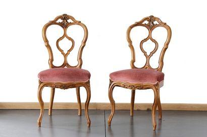 Paire de chaises d'époque Napoléon III à...