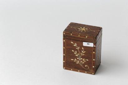 Boîte à cartes, travail oriental ancien,...