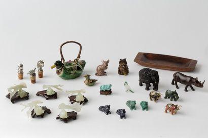 VARIA, ensemble de miniatures animalières...