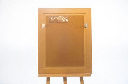 """KNAEPEN Armand (1887-1982) """"Vue du béguinage de Tirlemont"""", XXe, technique mixte,..."""