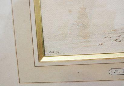 "BIDAULD Jean Joseph Xavier (1758-1846) [attribué à] ""Marine"", 1843, crayon, encre..."