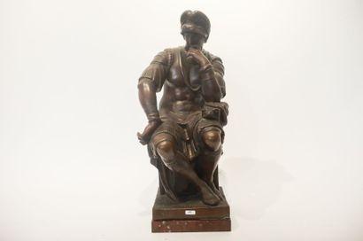 """MICHEL-ANGE, BUONARROTI Michelangelo dit (1475-1564) [d'après] """"Laurent de Médicis,..."""