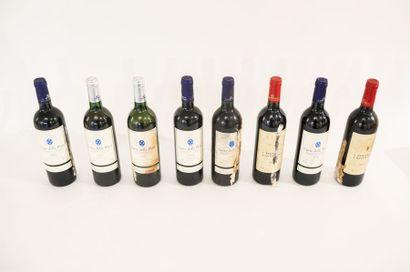 ITALIE (ABRUZZES) Seize bouteilles :  - rouge, Montepulciano / La Botte 2001, trois...
