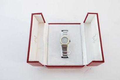 CARTIER - PARIS (LES MUST DE) Montre-bracelet de dame Santos en acier et or jaune...