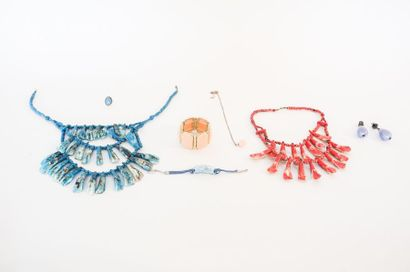 Lot de bijoux de fantaisie camaïeu estival...