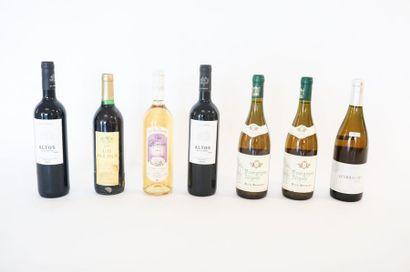 VARIA, sept bouteilles :  - ESPAGNE (VALDEPEÑAS),...