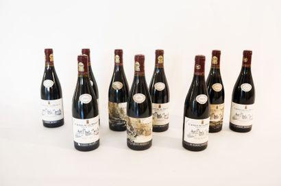 BOURGOGNE (POMMARD) Rouge, Château de Dracy / Albert Bichot 2002 (deux) et 2003 (sept),...