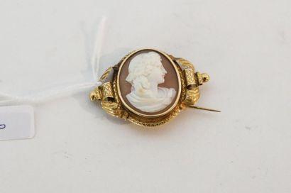 Broche d'époque Napoléon III en or jaune...