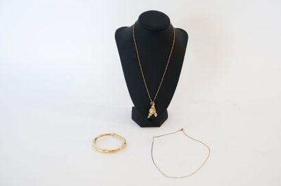 Bracelet-jonc ouvrant en or jaune 18 carats,...