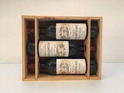 BORDEAUX (Pessac-Léognan - Graves), rouge, Château de Rochemorin 1999 - 2000 - 2001,...