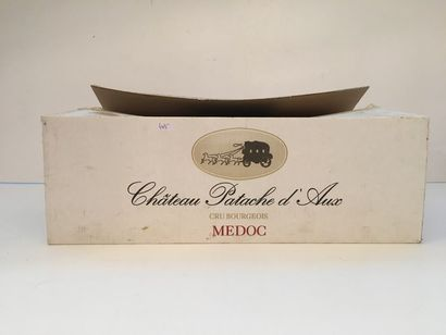 BORDEAUX (Médoc - Cru Bourgeois) Rouge, Château Patache d'Aux 1995, six bouteilles...