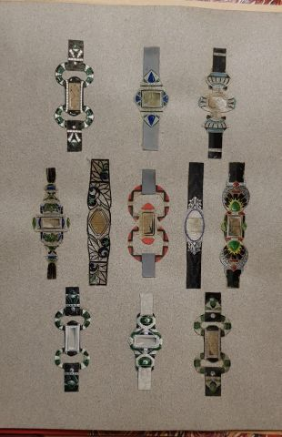 Vingt -six planches de modèles de montres-...