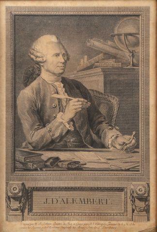 Jean D'Alembert (1717-1783) Eau forte et...