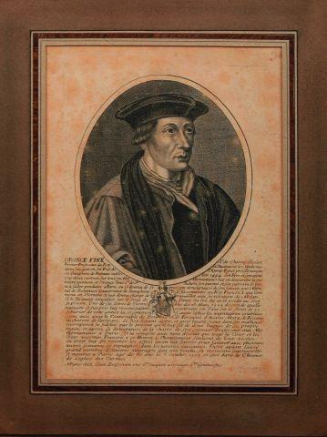 Portrait d'Oronce Fine édité à Paris par...