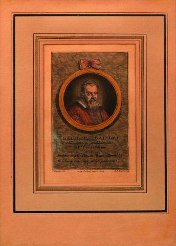 Portrait gravé de Galileo Galilei, par G....