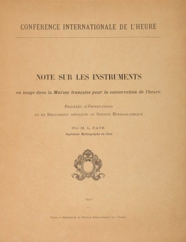 [BUREAU DES LONGITUDES]. Conférence internationale de l'heure, Paris, 1912. In-4°....