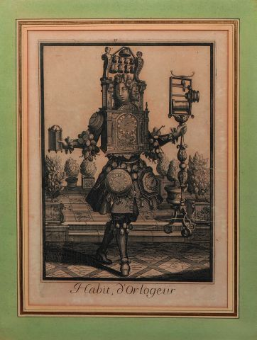 'Habit d'horlogeur', fin du XVIIe siècle....