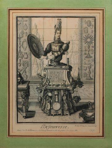 L'Orfeueresse, fin du XVIIe siècle. Eau-forte...