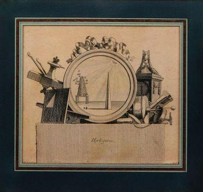 Allégorie d'horlogerie par Jean Charles De...